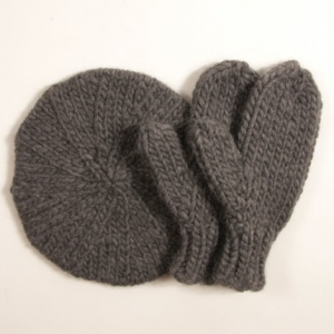 Madeleine Beret And Mittens